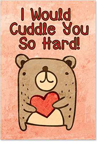 2197 Cuddle You So Hard Unique Hilariousous Valentine's Day Greeting Card with - Card Her For Funny Valentines