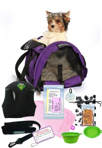 All in One Airline Pet Travel Bag Package Cube (Medium Harness) by Kats'N Us