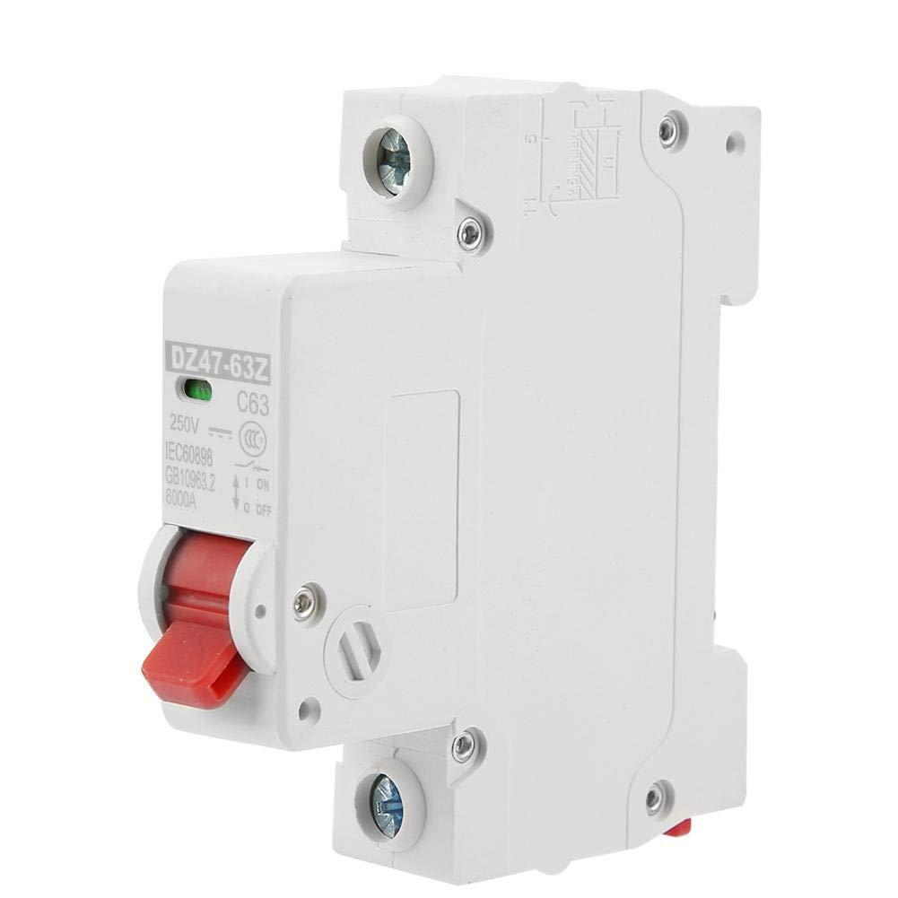 Disjoncteur DC Disjoncteur Miniature Commutateur Pneumatique de Protection Contre Fuites DC DZ47-63Z-1P 63A