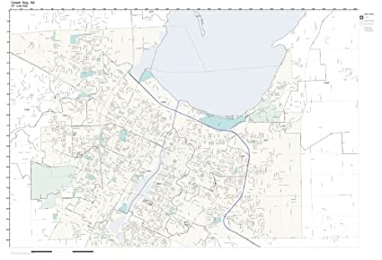 Green Bay Wi Zip Code Map.Amazon Com Zip Code Wall Map Of Green Bay Wi Zip Code Map Not