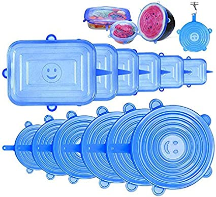 StillCool Tapas de Silicona Ajustables Cocina, Tapas de Silicona Elásticas, Reutilizable Fundas Adecuada para Boles, Tarros, Lavavajillas, Refrigerado,Microonda