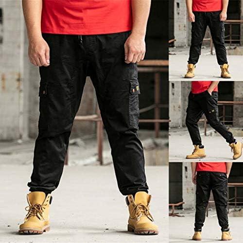 メンズサマーパンツカジュアルロングスケートボードストレートファッションポケットプラスサイズS-7XL