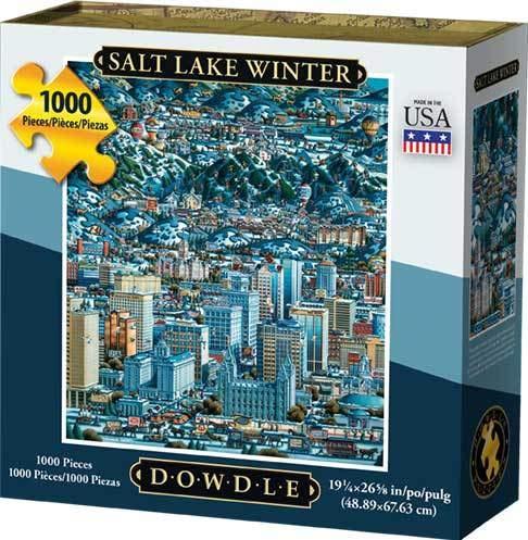 Dowdle Jigsaw Puzzle - Salt Lake Winter - 1000 Piece