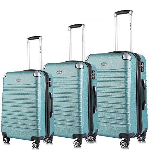 Travel Joy Expandable Luggage Set, Suitcases TSA Lightweight Spinner Luggage Sets, Carry On Luggage(Green, 3 pcs set(20