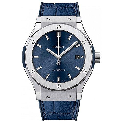 Hublot Classic Fusion Blue Sunray Dial Titanium Automatic Men's Watch