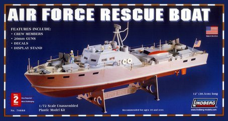 Lindberg 1/72 Scale Air Force Rescue Boat (Air Force Ships)