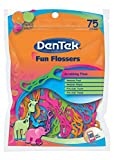 DenTek Fun Flossers for Kids, Wild Fruit Floss Picks,Easy Grip for Kids,75 Count (Pack of 18)