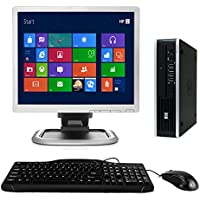 HP Elite 8000 USFF Windows 10 Desktop Computer C2D 3.0 PC 4GB 160GB DVD ROM WiFi 17 Inch LCD Monitor - keyboard - Mouse (Certified Refurbished)