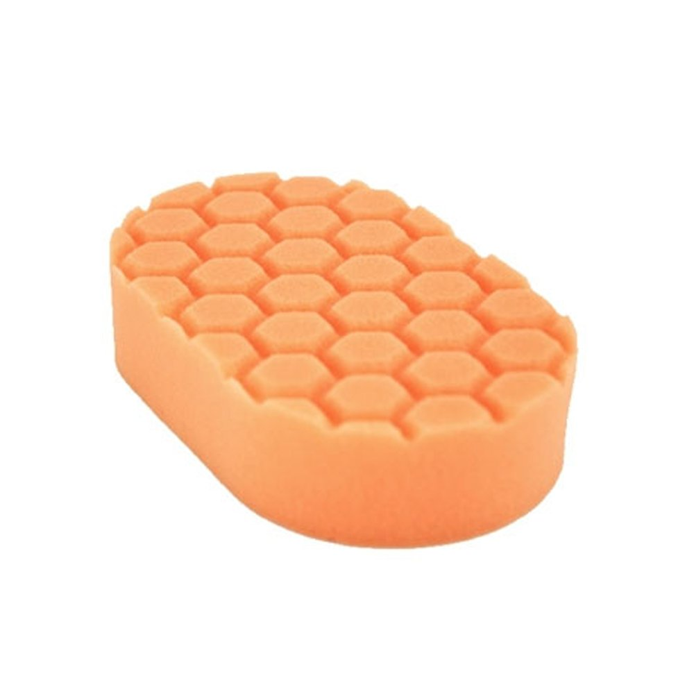 Chemical Guys BUFX_201 Hex-Logic Medium Cutting Hand Applicator Pad, Orange  (3 in. x 6 in. x 1 in.)