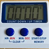 Hygiplas Countdown Timer with Magnetic Back and Large Digital Display