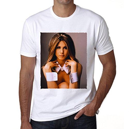 Jennifer Aniston Celebrity : Men's T-shirt Celebrity Star ONE IN THE CITY - White, ()