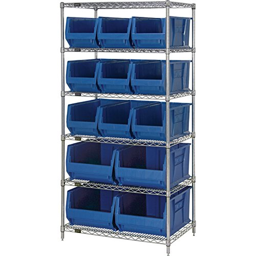 Review Quantum Storage Systems WR6-973974BL 6-Tier Complete Wire Shelving System with By Quantum Storage Systems by Quantum Storage Systems