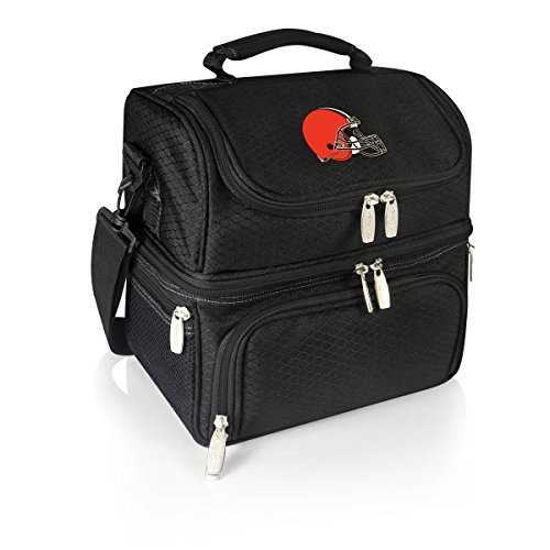 (PICNIC TIME NFL Cleveland Browns Pranzo Insulated Lunch Tote with Service for One, Black)