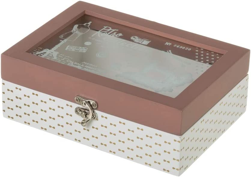 Caja costurero de madera rosa vintage para cocina France ...