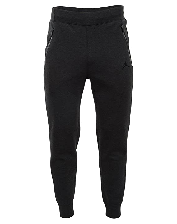 eb83aa9d7379 Amazon.com   688994-032  AIR JORDAN AJ FLEECE PANT APPAREL PANTS AIR JORDAN  HEATHER BLACK