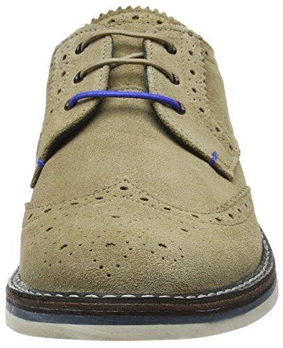 Ted Baker Reith 2, Zapatos de Vestir para Hombre, Azul Marino Beige (Sand)