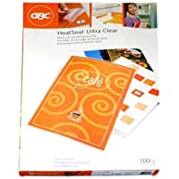 GBC Laminating Sheets / Pouches, HeatSeal Ultra Clear, Menu Size, 11-1/2x17-1/2, 3 Mil, 100 Pack (3200415)