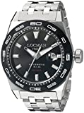 Locman Italy Men's 0215V1-0KBKNKSBR0 Stealth 300 Metri Analog Display Automatic Self Wind Silver Watch