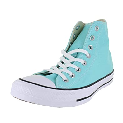 d855ae58e67263 Converse Unisex Chuck Taylor All Star Seasonal High Top Shoe Light Aqua  Men s Size 8.5