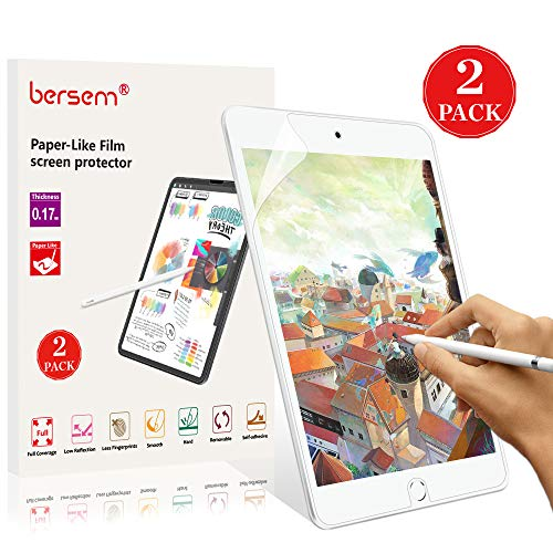 2 Pack iPad Mini 5 Screen Protector Paperlike, BERSEM IPad Mini 5 & Mini 4 Screen Protector Apple Pencil Compatible Anti Glare with Easy Installation Kit Paper Texture (Best Anti Glare Screen Protector For Ipad Mini)