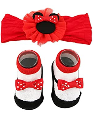 Baby Girls' Minnie Mouse Headband and Sock Set