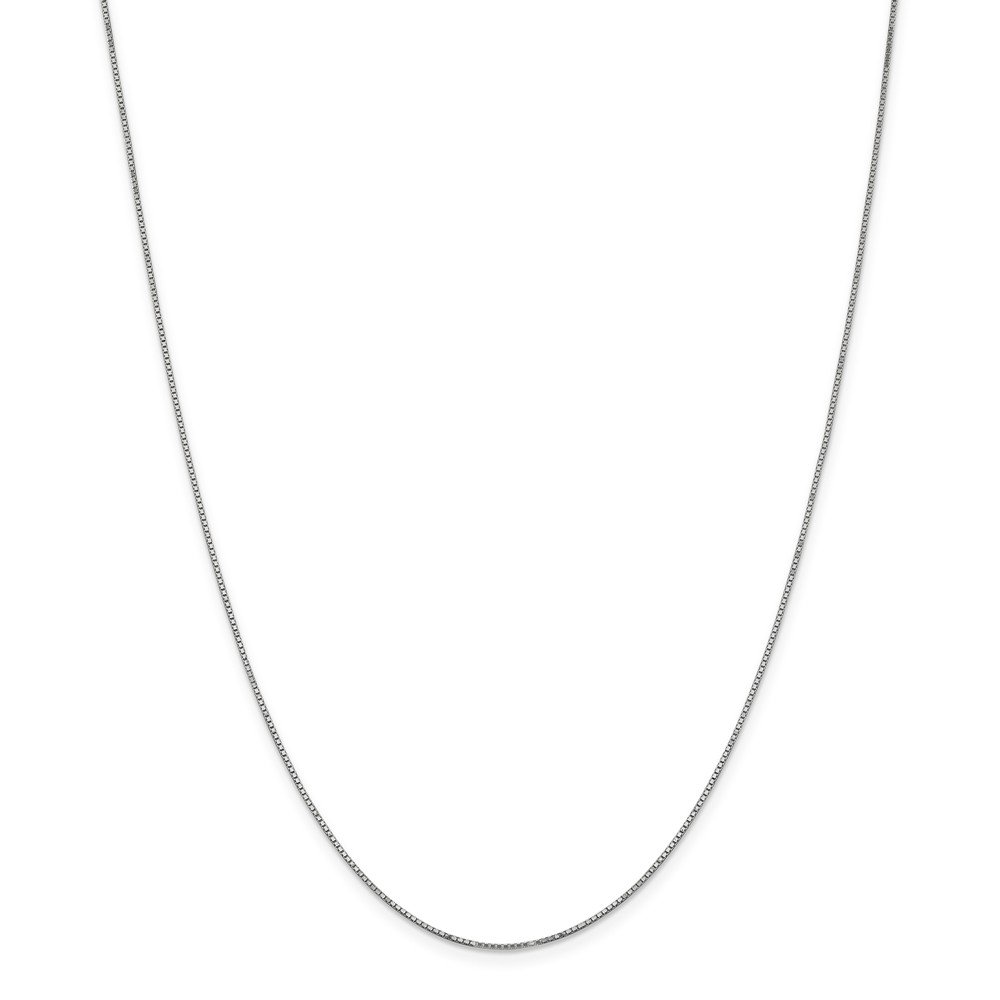 Jewels By Lux 14K White Gold .90mm Box Chain