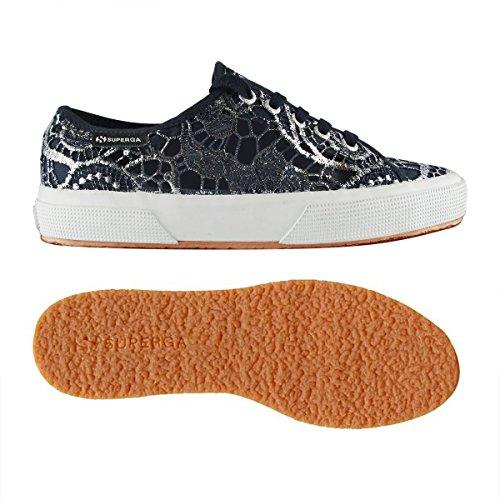Unisex Macramew Superga Sneaker Adulto SILVER BLUE 2750 Basse 5rrwqI7