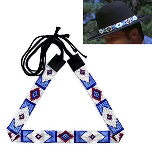 3d6917c0da12f Cowboy Western Beaded Hatband Rodeo Style Handmade 1 inch Wide (H44SB1)