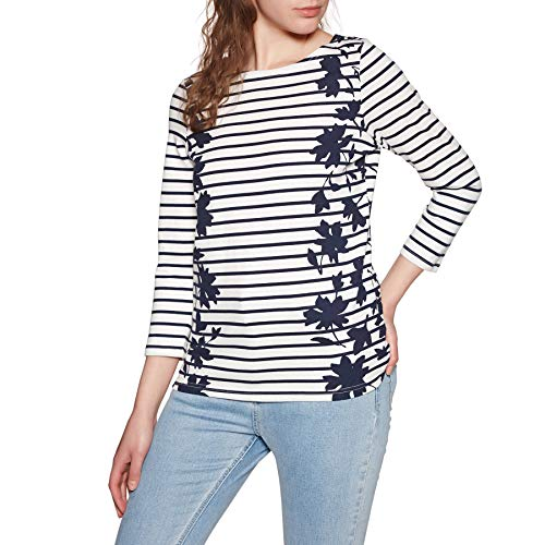 - Joules Harbour Print Jersey Top Navy Border Floral 4