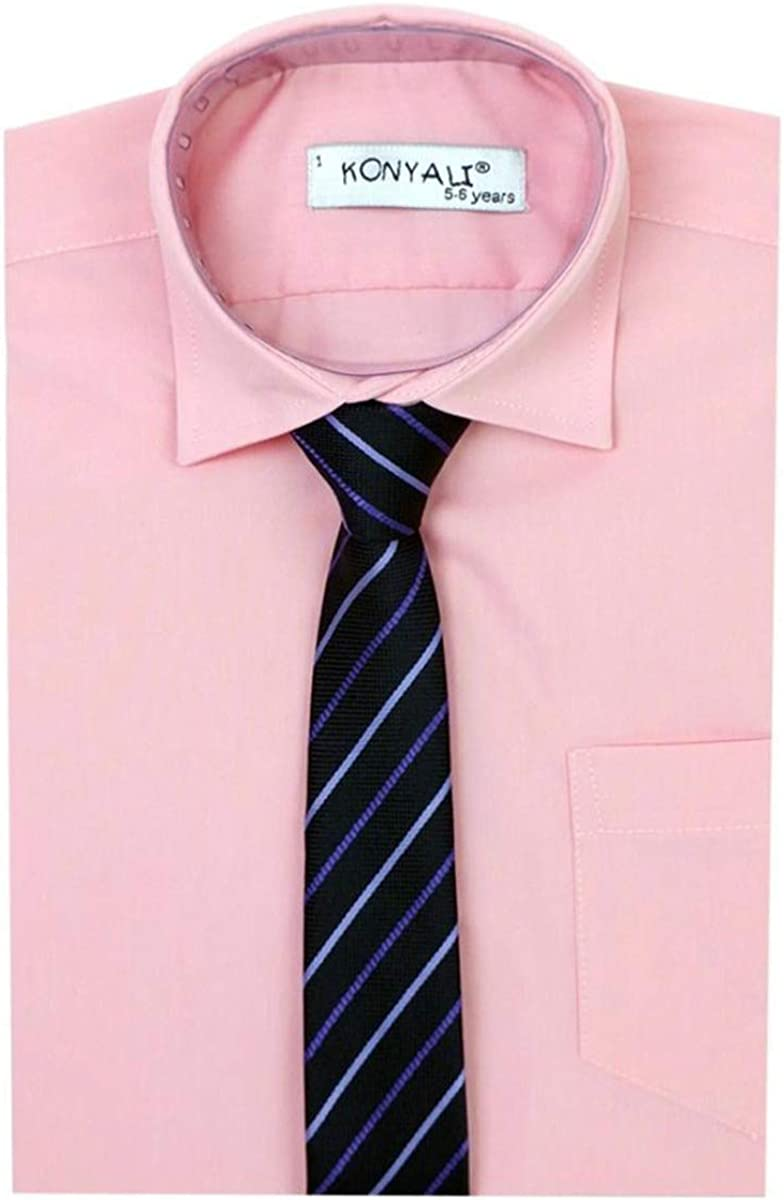 Kids Smart Suit Shirt Wedding Prom Pageboy Boys Formal Shirts Tie Set Party