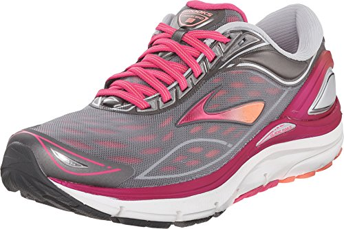 Brooks Women's Transcend 3 Silver/Beet Root Purple/Fresh Salmon...
