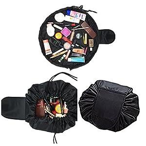 Lazy Makeup Bag Black Drawstring Cosmetic Bag For Travel