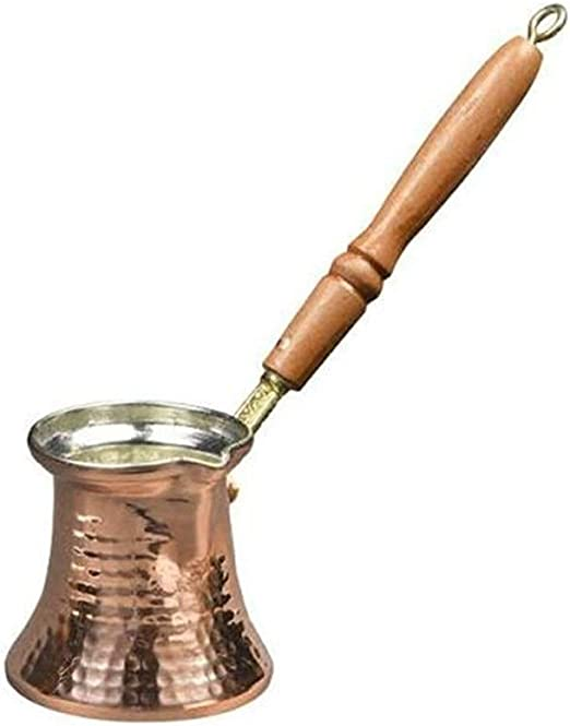 Cafetera turca turca Cafetera turca Cafetera de cobre turca para la cafetería Turk Manija de madera (Color : 320ml(10.82oz)): Amazon.es: Hogar