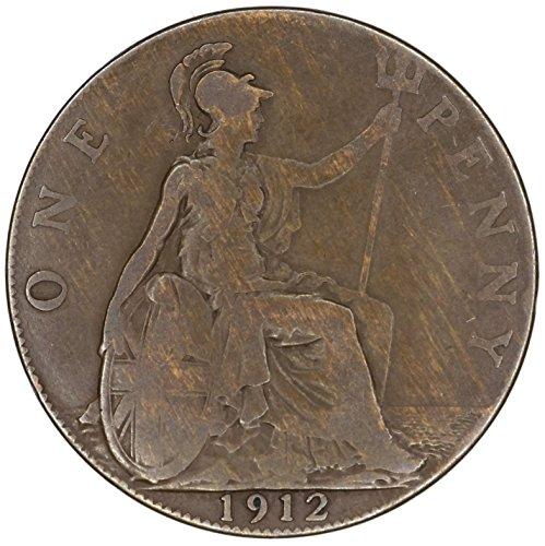 1912 UK UK George V Great Britain British Bronze Penny KM# 810 Penny FAIR