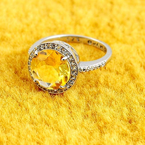 CloseoutWarehouse Blue Simulated Topaz and Clear Cubic Zirconia Pave Sunflower Design Ring Rose Gold Plated Sterling Silver