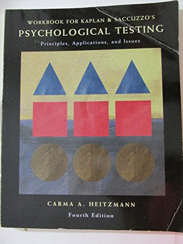 Student Workbook for Psychological Testing: Principles, Applications, and Issues