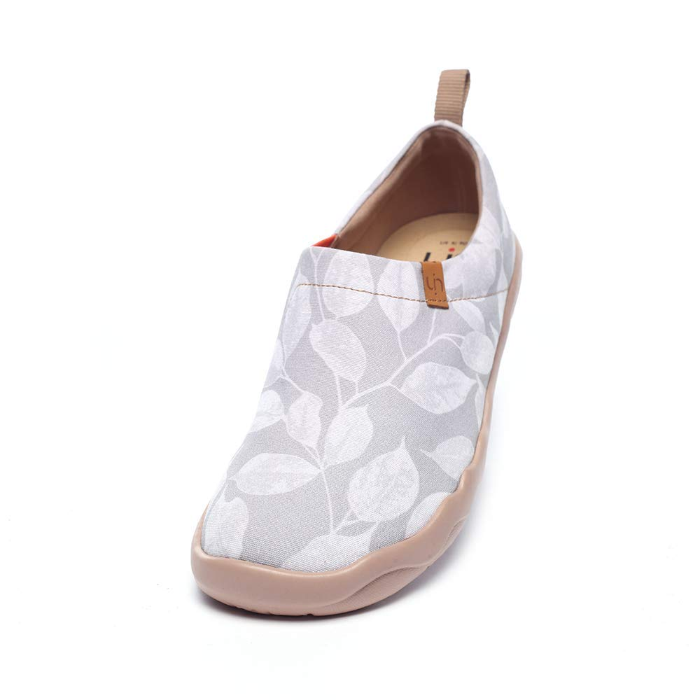 UIN Herren leidenschaftliche Flomar Fashion Art Leaf Sneaker bemalte Leinwand Slip on Man Loafers Travel Schuhe