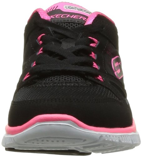 Skechers Flex AppealSpring Fever, Zapatillas de Deporte Exterior, Mujer Negro (BKHP)