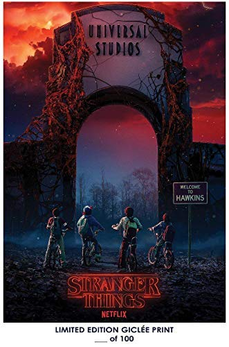 Lost Posters Rare Poster Universal Studios Halloween Horror Nights: Stranger Things Limited 2018 Reprint #'d/100!! 12x18