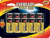 Best C Batteries - Eveready C Cell Alkaline Batteries, Gold (10 Count) Review