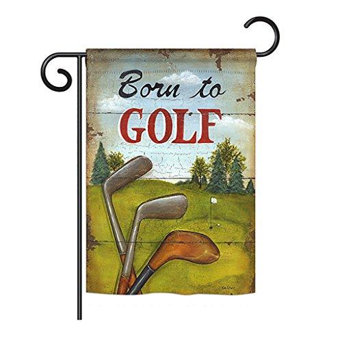 Breeze Decor G159065 Born to Golf Interests Sports Decorativ