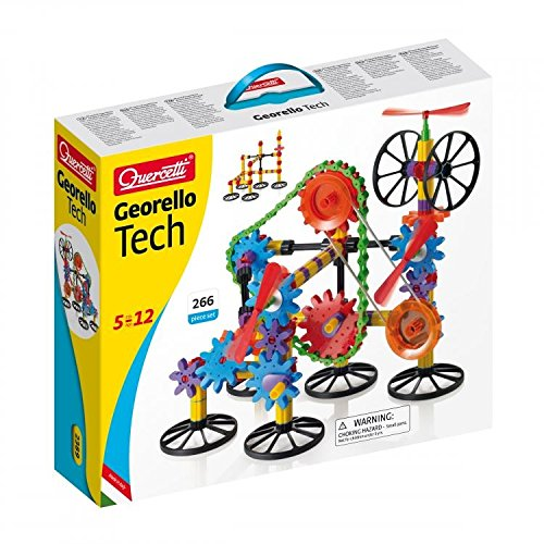 Quercetti Georello Tech 266 Piece Building Gears Ages 5-12 Years