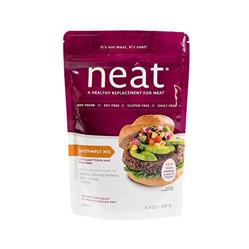 neat - Vegan - Southwest Mix (5.5 oz.) - Non-GMO, Gluten-Free, Soy Free, Meat Substitute Mix (Soy Burger Patties)