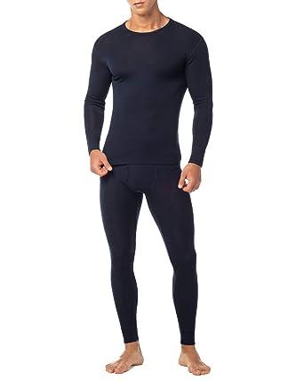 7d2576c783e LAPASA Ensemble de sous-vêtement Thermique Homme en Laine Mérinos 100%  Naturelle Haut et