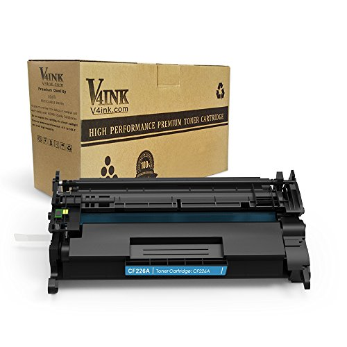 V4INK 1 Pack Replacement for CF226A 26A 3100 Pages New Compatible Toner Cartridge for LaserJet Pro M402n, M402dn, M402dw, MFP M426fdw, MFP M426fdn series - 3100 Laser Printer