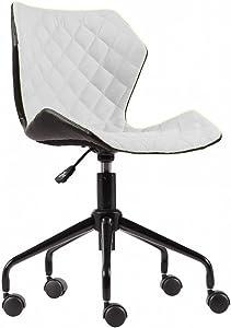 Modern Home Ripple Mid-Back Office Task Chair - Black/White