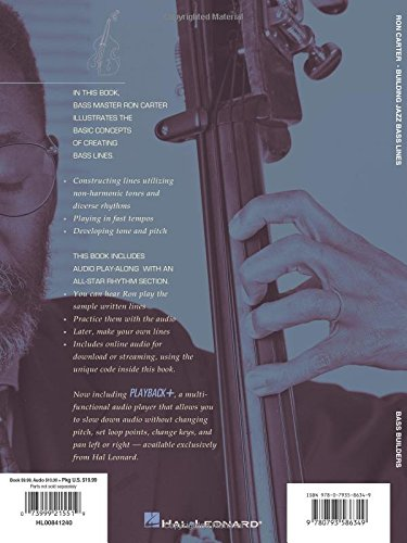 Ron Carter Building Jazz Bass Lines (Bass Builders): Amazon ...