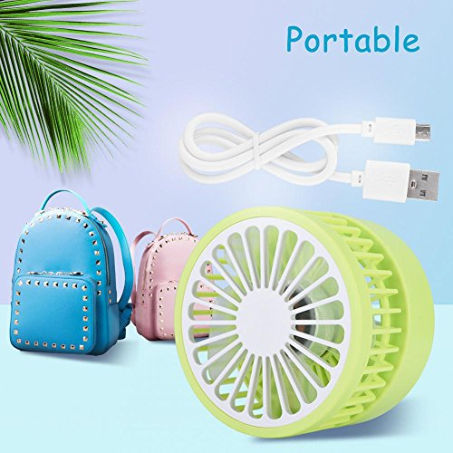 fosa Mini USB Desk Cooling Fan, Lemon Style Air Circulator Fan 3-level Adjustment Powerful Wind USB Desktop Fan for Home Office School(Green) by fosa (Image #5)
