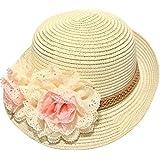 Dealzip Inc® Cute Church Sunday Straw Hat Winter Flower Floral Girly Girls Hat Cap