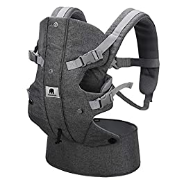 Meinkind Baby Carrier, Infant to Toddler Baby Carrier Newborn Baby Carrier, 4-in-1 Baby Carrier 360 All Position with…